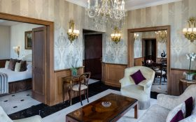 Living room of the Ludovisi Suite of the  Baglioni Hotel Regina in Rome