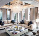 Living room of the Roman Penthouse Suite of the  Baglioni Hotel Regina in Rome