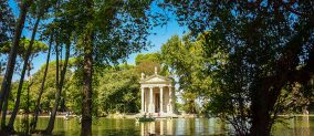 Picnic at Villa Borghese in Rome