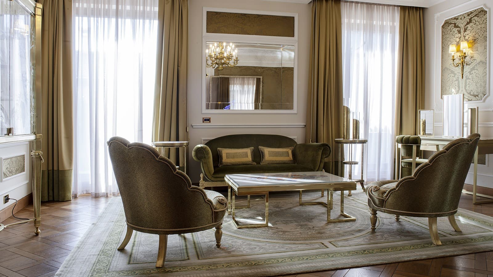 New Montenapoleone Suite living room by Jumbo Collection Baglioni Hotel Carlton Milan