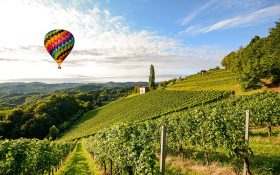 Hot-air balloon trip over Tuscany