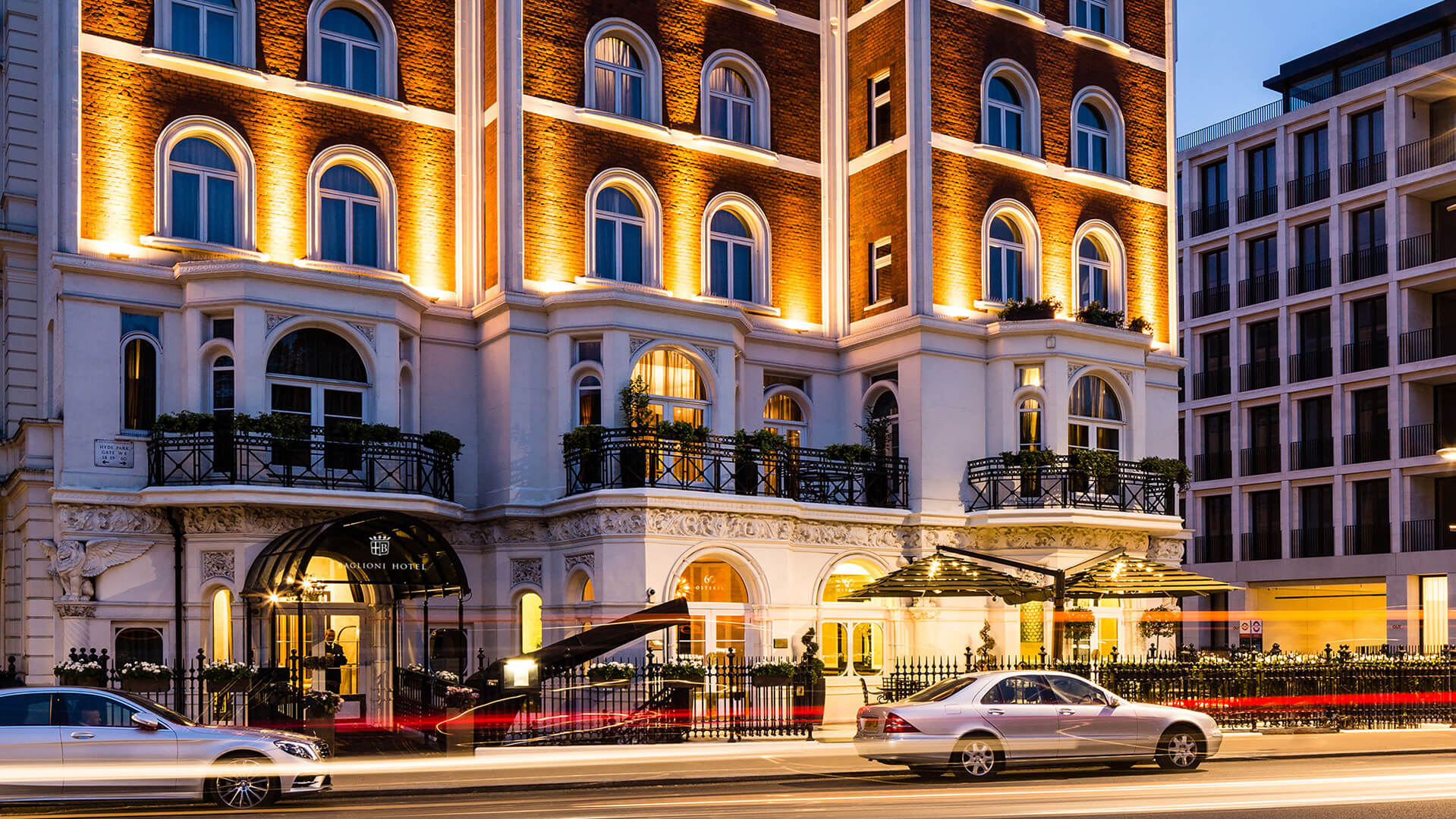Baglioni Hotel London at sunset