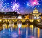 New Years fireworks in Rome
